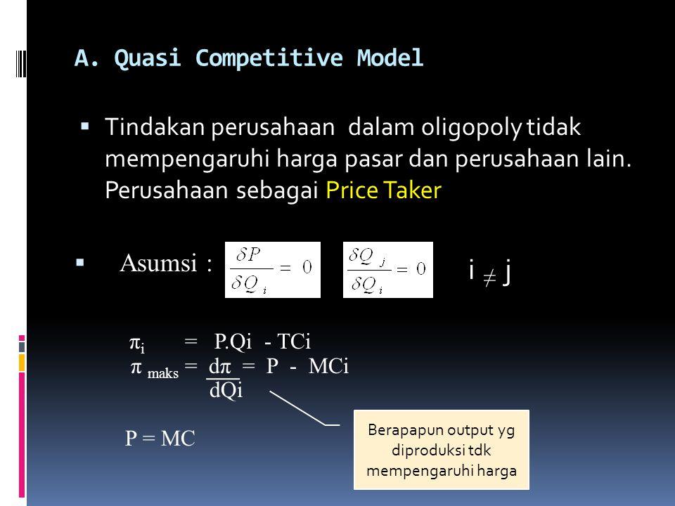 A. Quasi Competitive Model