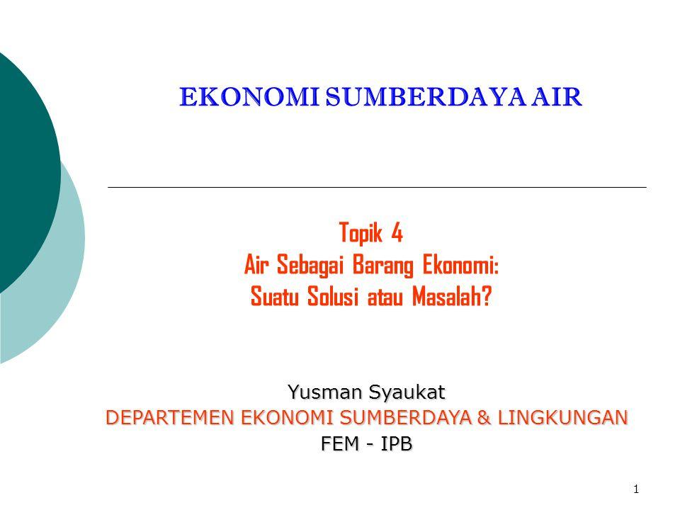 EKONOMI SUMBERDAYA AIR