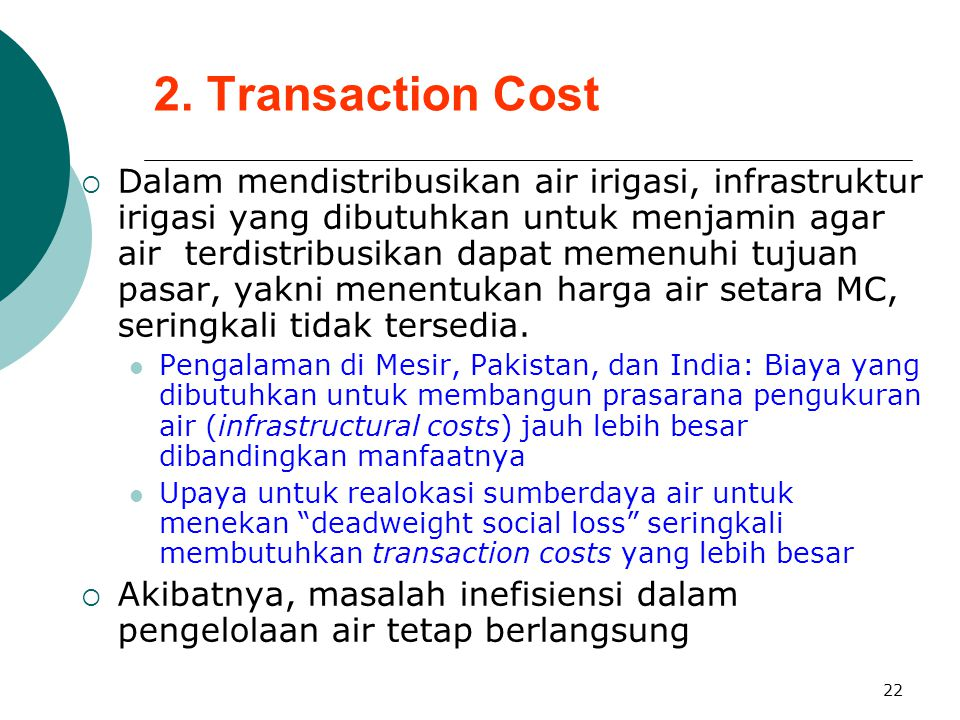 2. Transaction Cost