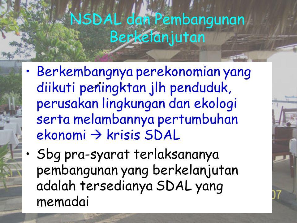 NSDAL dan Pembangunan Berkelanjutan