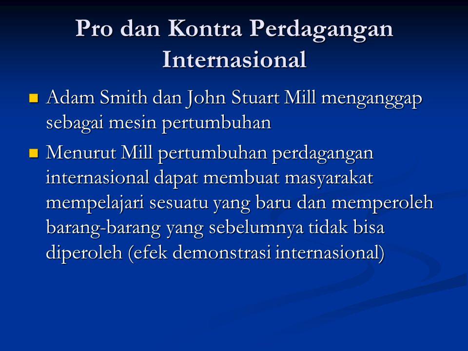 Pro dan Kontra Perdagangan Internasional