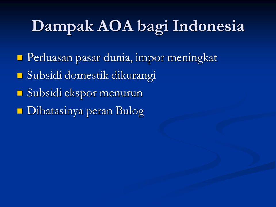 Dampak AOA bagi Indonesia