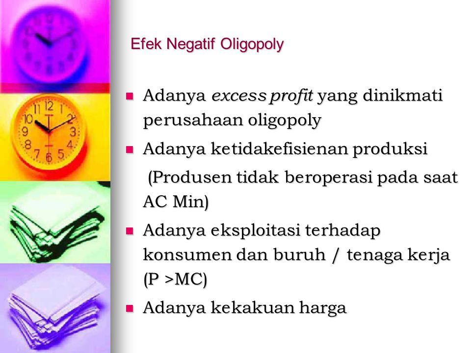 Efek Negatif Oligopoly