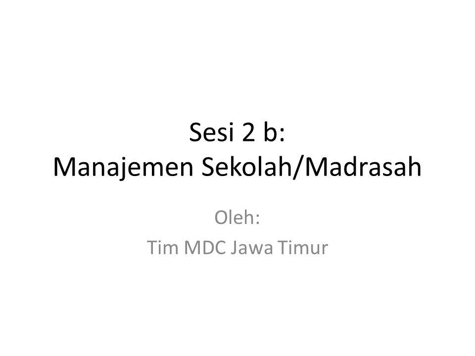 Sesi 2 b: Manajemen Sekolah/Madrasah