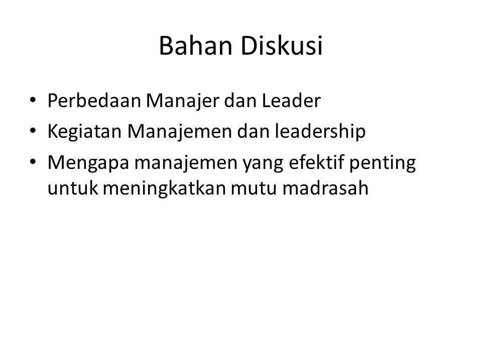 Bahan Diskusi Perbedaan Manajer dan Leader