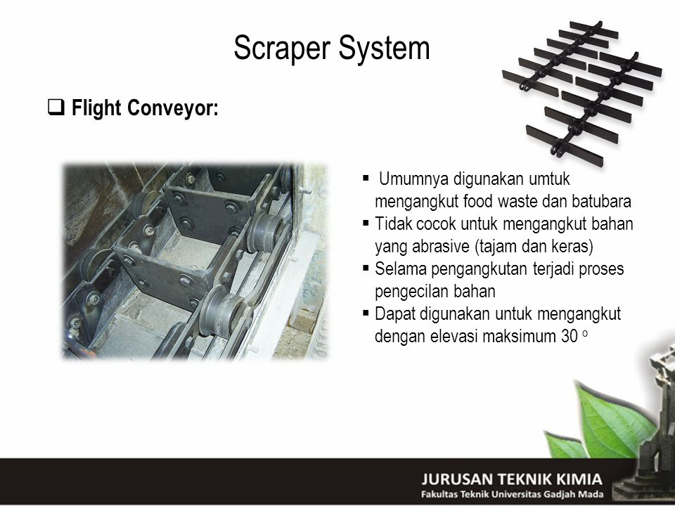 Scraper System Flight Conveyor: