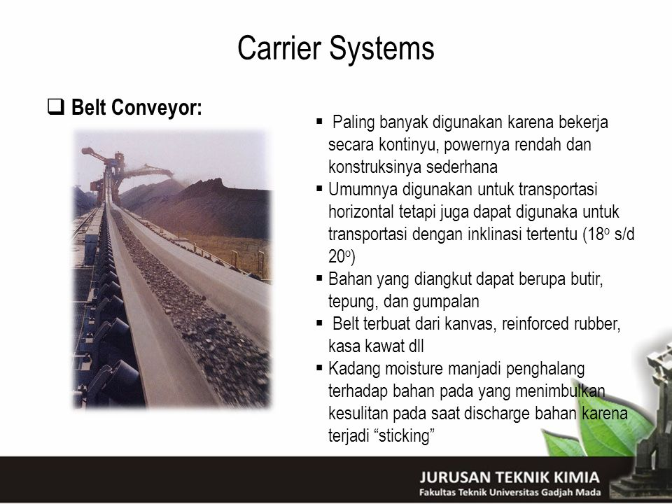 Carrier Systems Belt Conveyor: