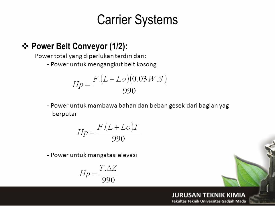 Carrier Systems Power Belt Conveyor (1/2):