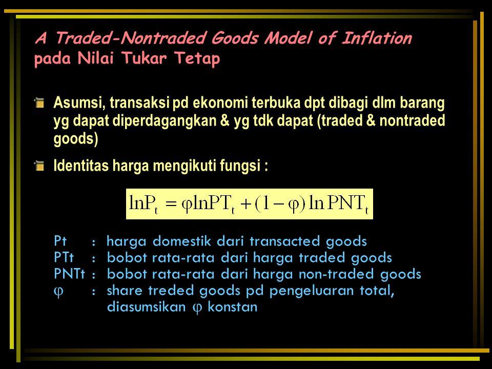 Pt : harga domestik dari transacted goods