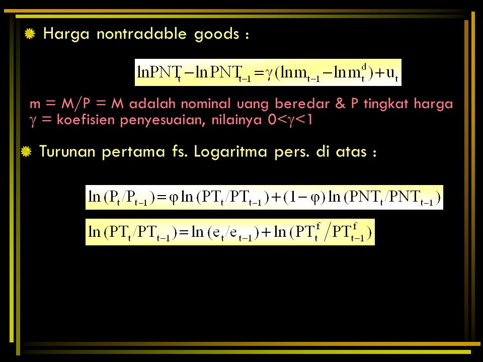 Harga nontradable goods :