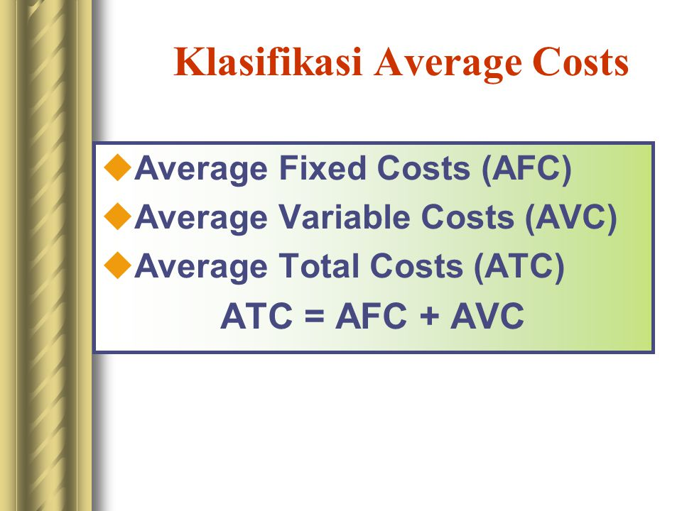 Klasifikasi Average Costs