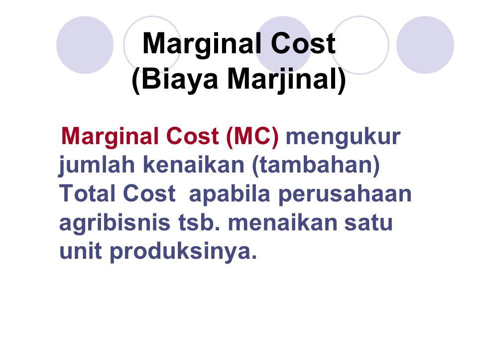 Marginal Cost (Biaya Marjinal)