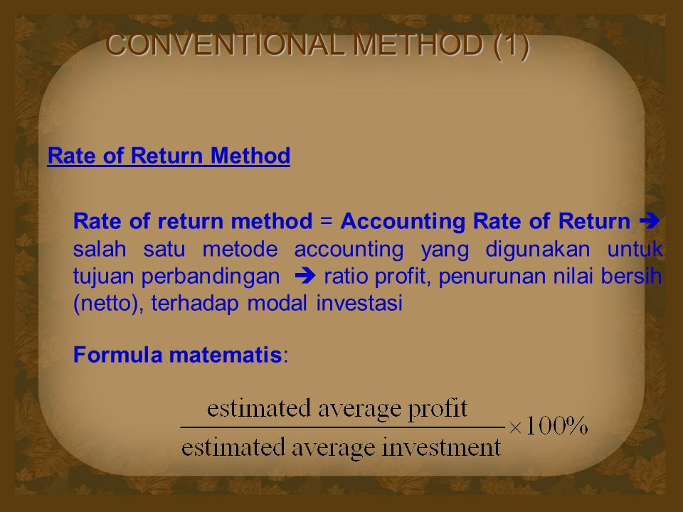 CONVENTIONAL METHOD (1)