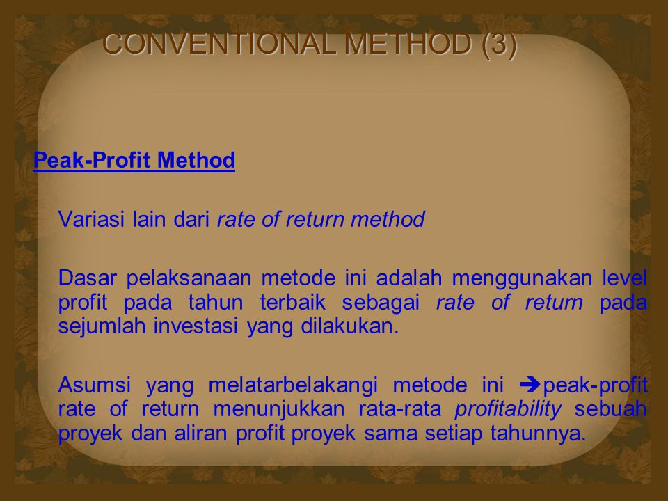 CONVENTIONAL METHOD (3)