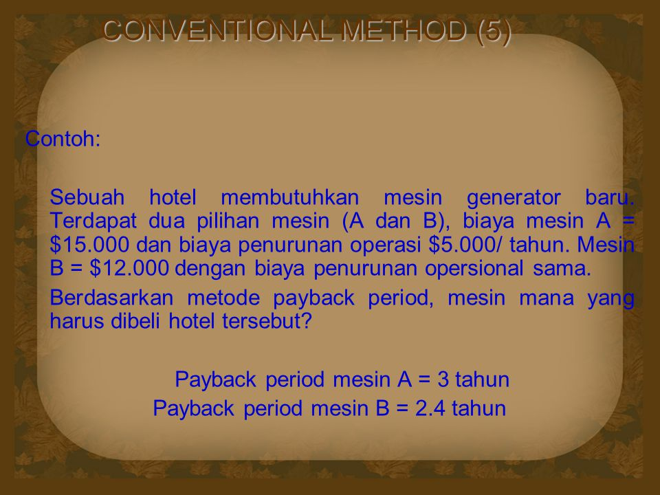 CONVENTIONAL METHOD (5)