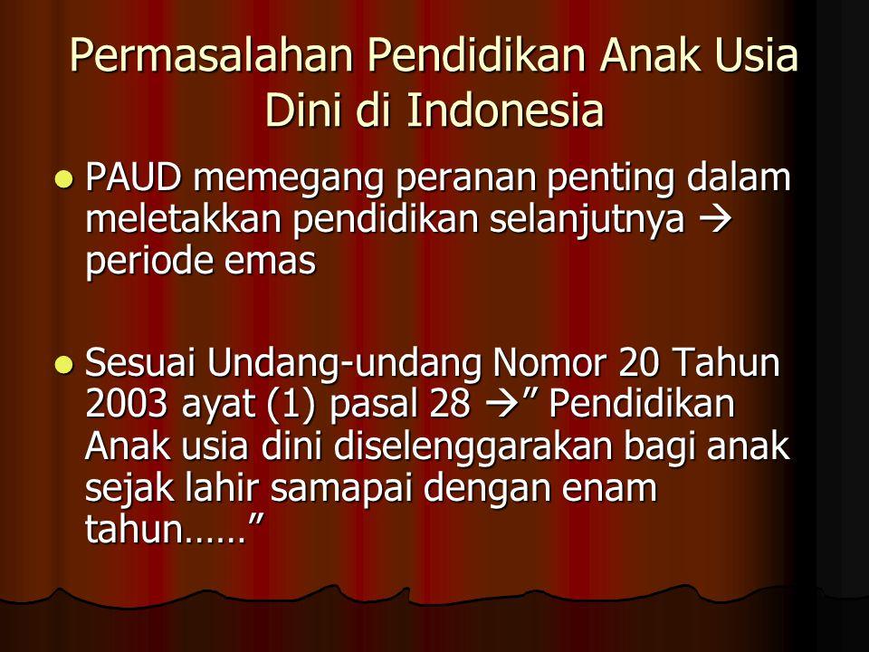 Permasalahan Pendidikan Anak Usia Dini di Indonesia