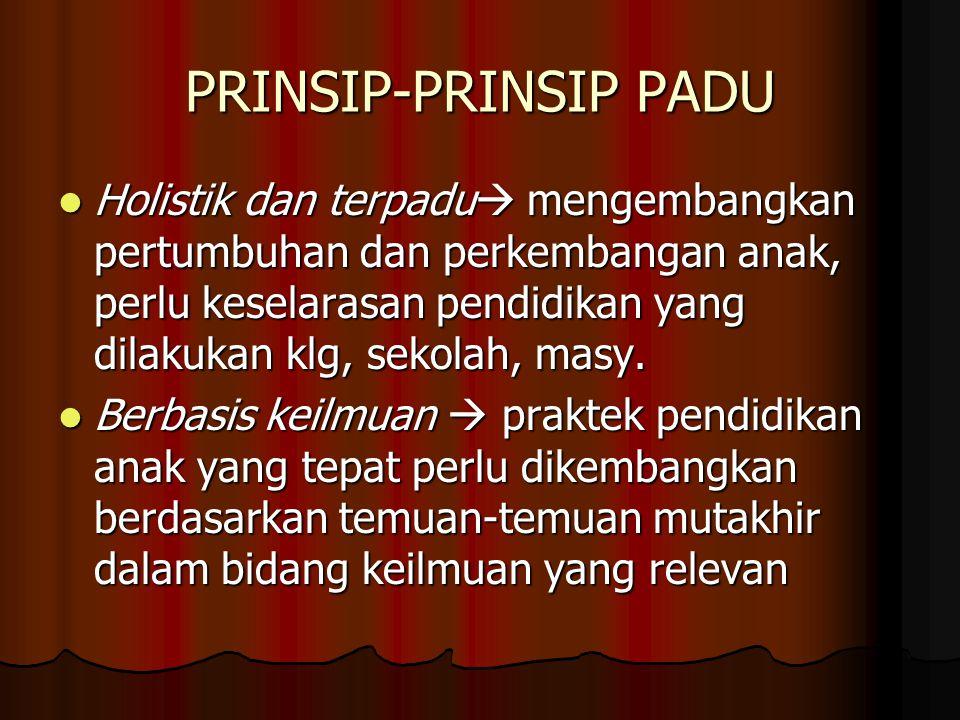PRINSIP-PRINSIP PADU
