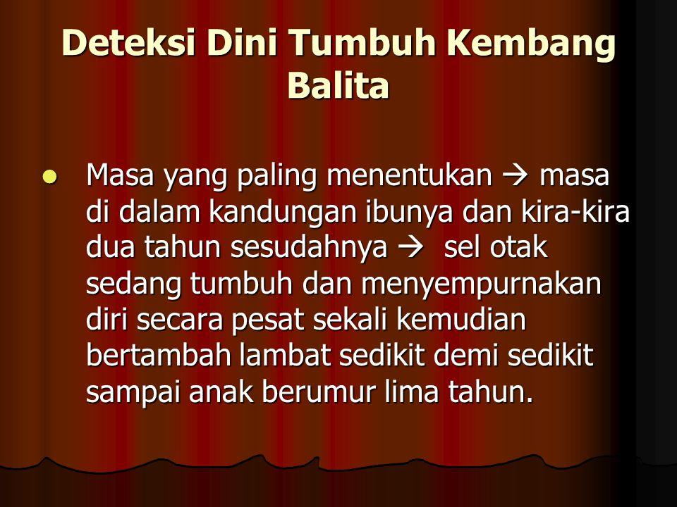 Deteksi Dini Tumbuh Kembang Balita