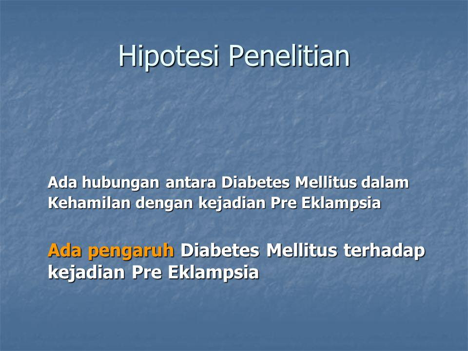 Hipotesi Penelitian Ada pengaruh Diabetes Mellitus terhadap