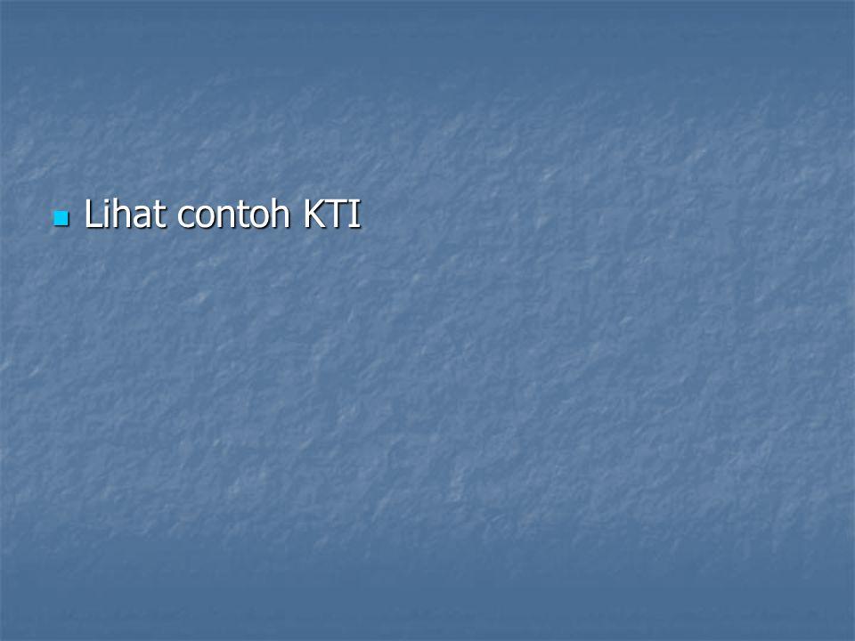 Lihat contoh KTI