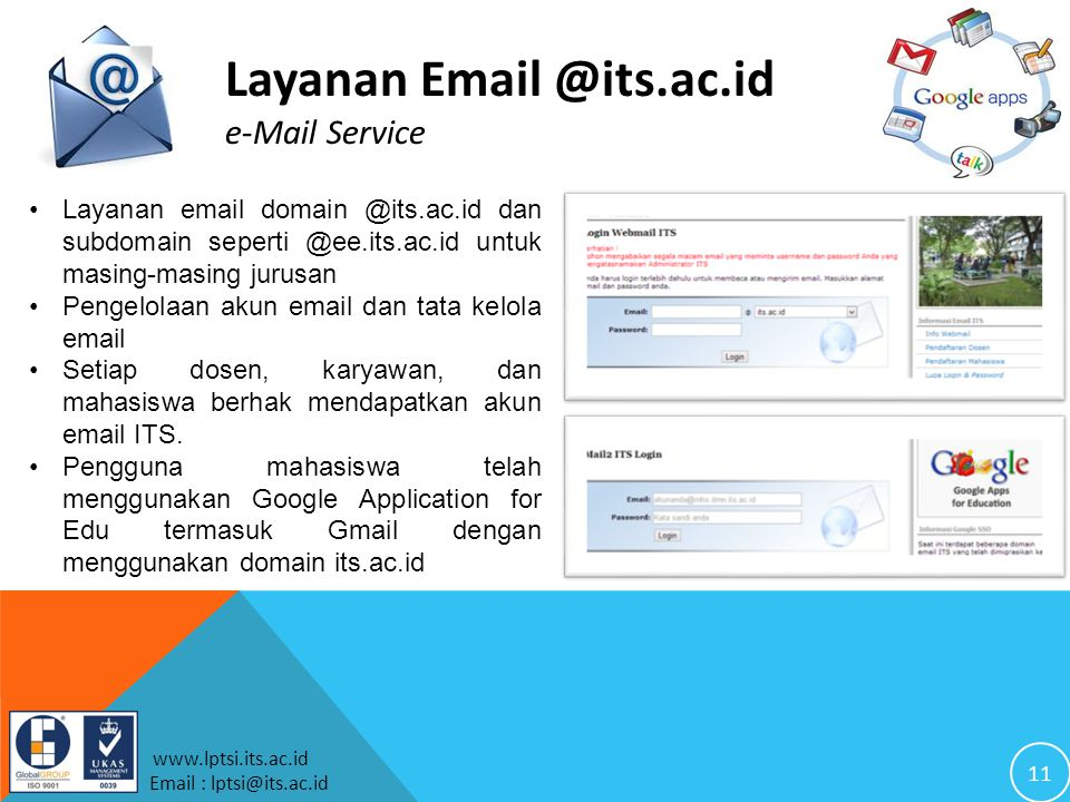 Layanan Email @its.ac.id e-Mail Service