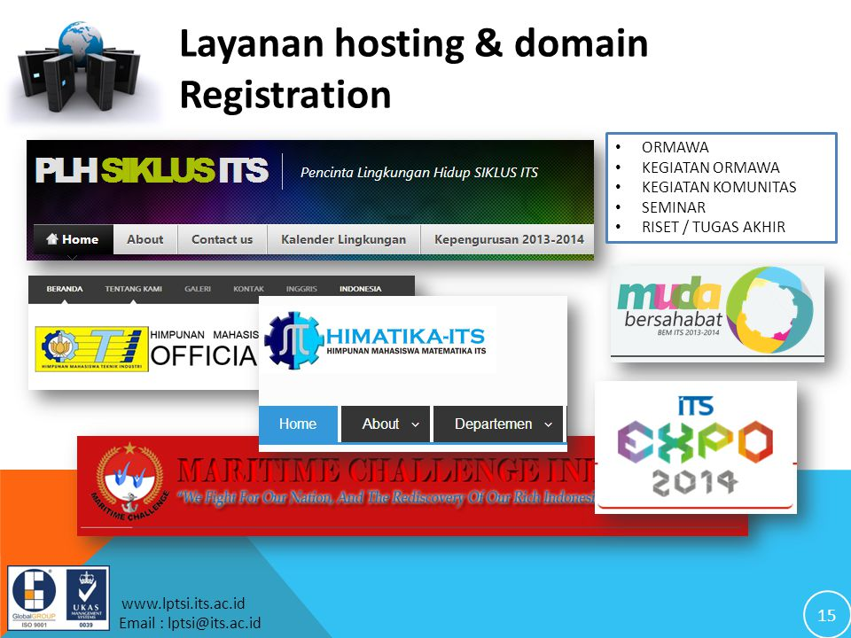 Layanan hosting & domain Registration