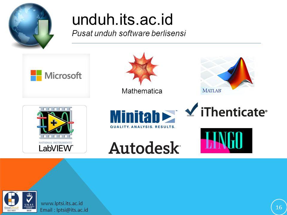 unduh.its.ac.id Pusat unduh software berlisensi Mathematica