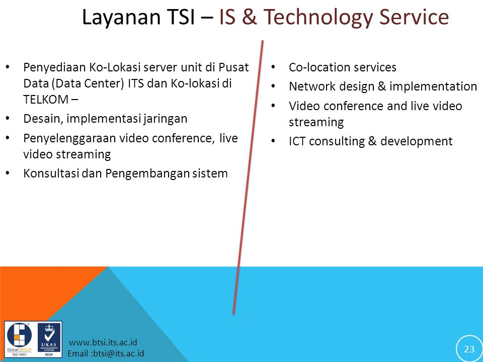 Layanan TSI – IS & Technology Service