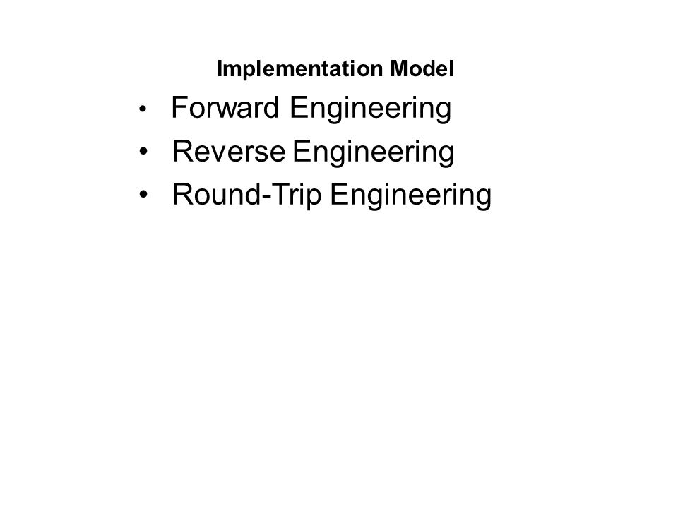 Round-Trip Engineering