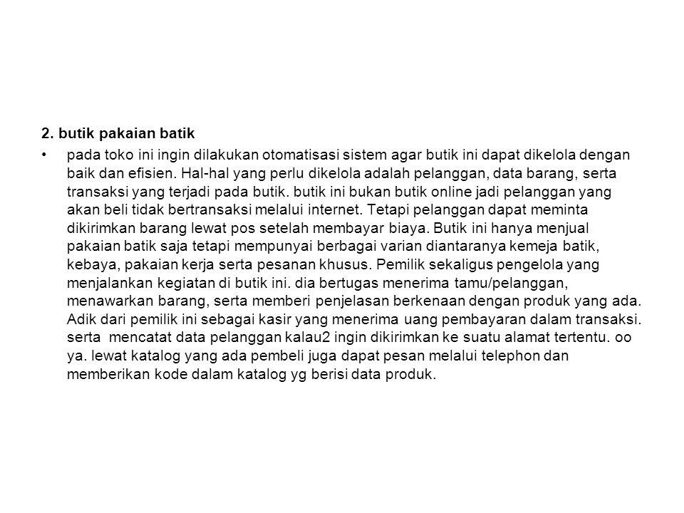 2. butik pakaian batik