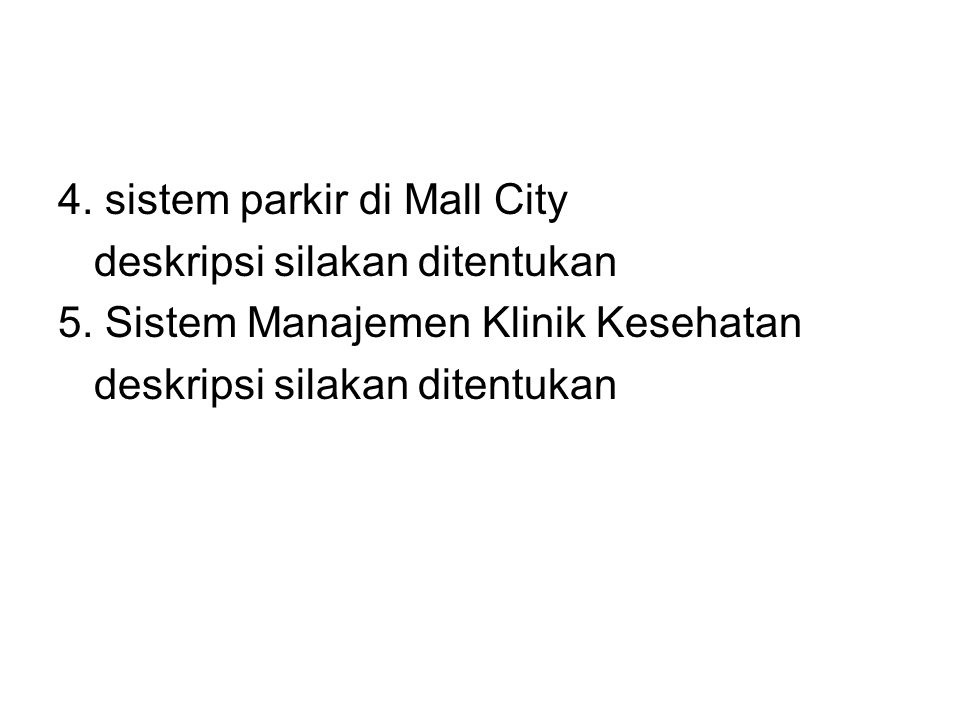 4. sistem parkir di Mall City