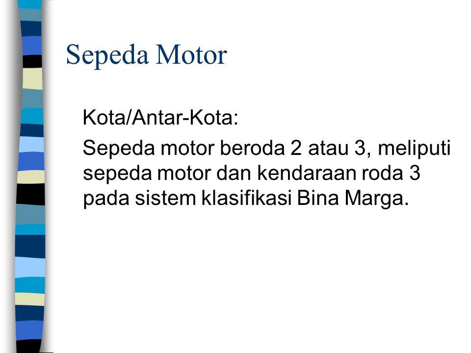 Sepeda Motor Kota/Antar-Kota: