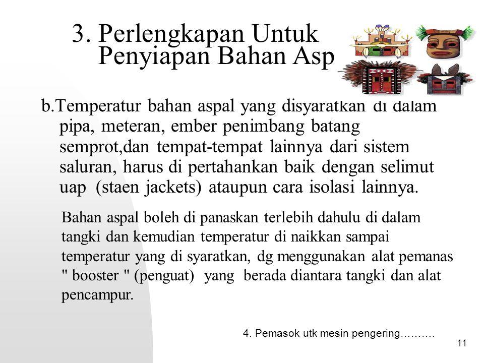 3. Perlengkapan Untuk Penyiapan Bahan Aspal