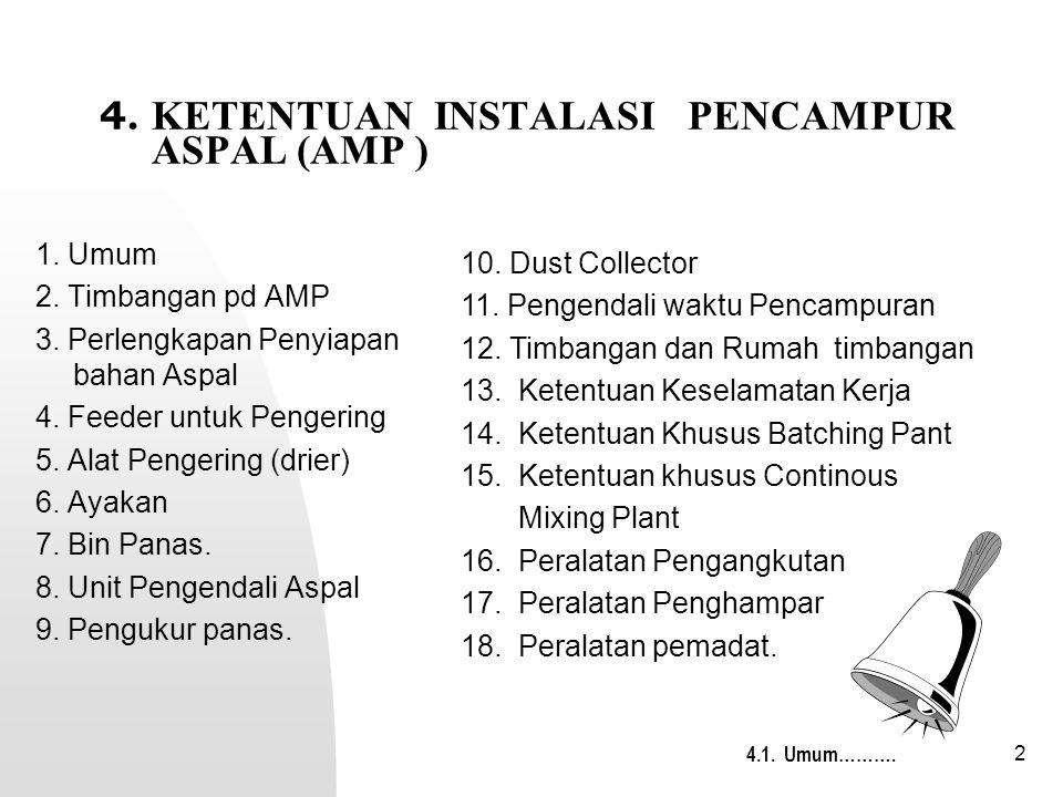 4. KETENTUAN INSTALASI PENCAMPUR ASPAL (AMP )
