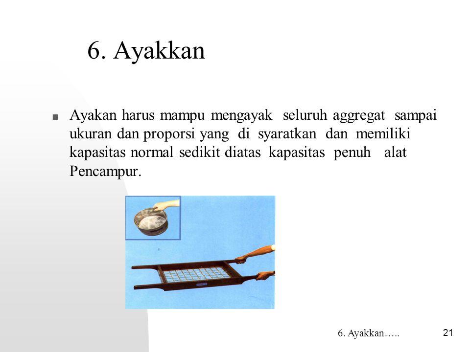 6. Ayakkan