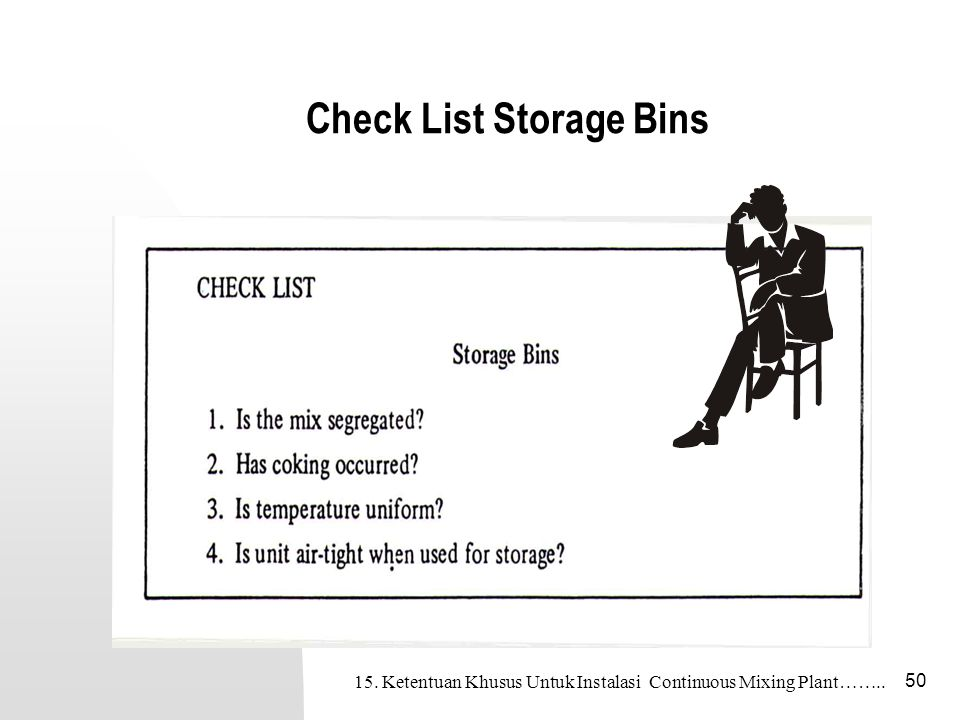 Check List Storage Bins