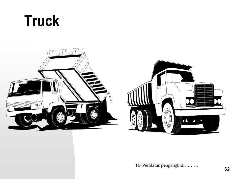 Truck 16. Peralatan pengangkut……….