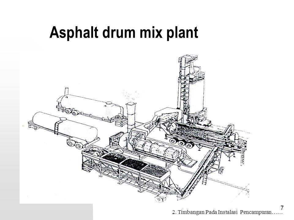 Asphalt drum mix plant 2. Timbangan Pada Instalasi Pencampuran……