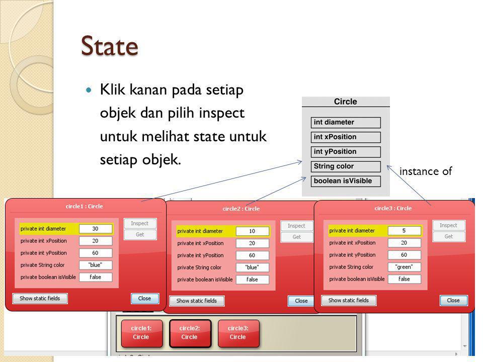 State Klik kanan pada setiap objek dan pilih inspect