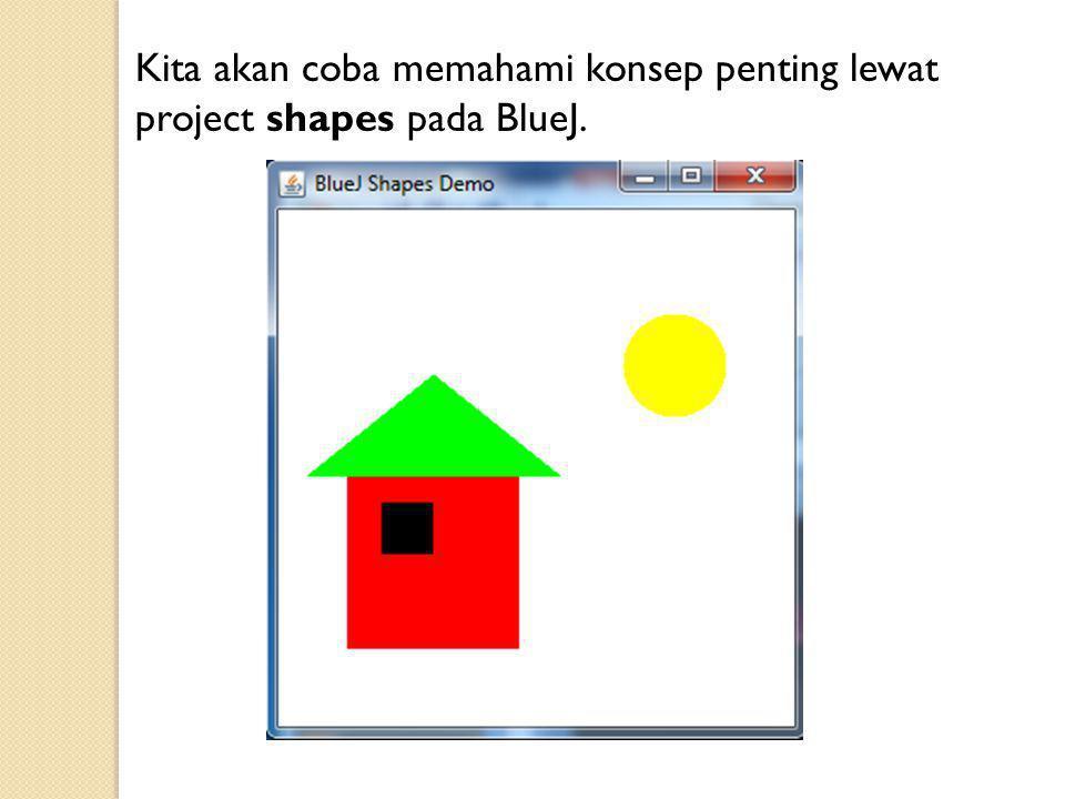 Kita akan coba memahami konsep penting lewat project shapes pada BlueJ.