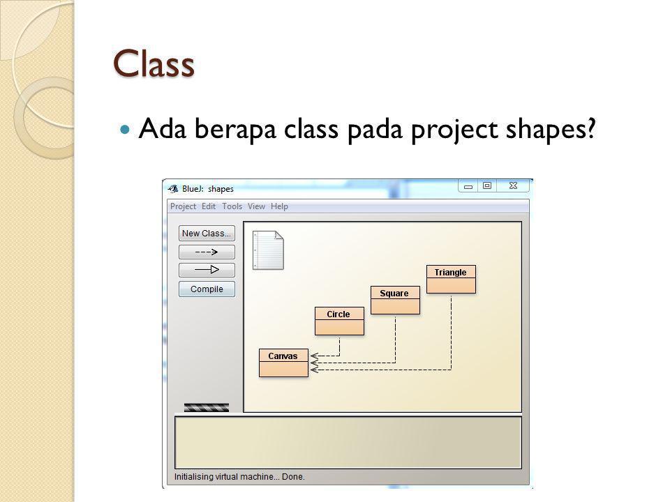 Class Ada berapa class pada project shapes
