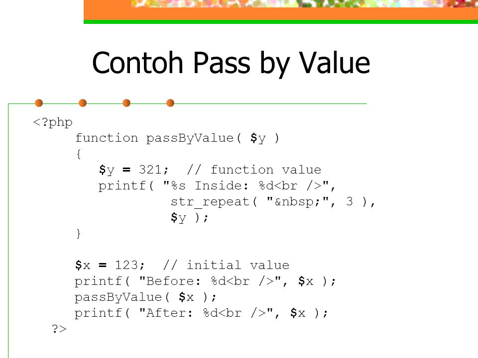 Contoh Pass by Value