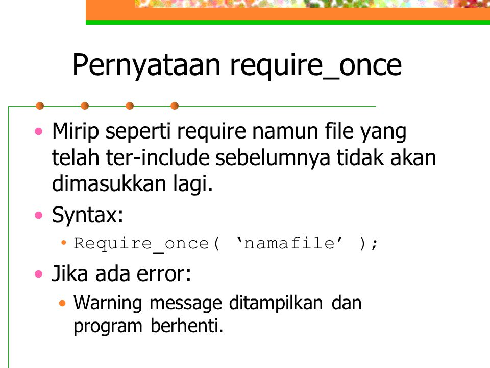 Pernyataan require_once