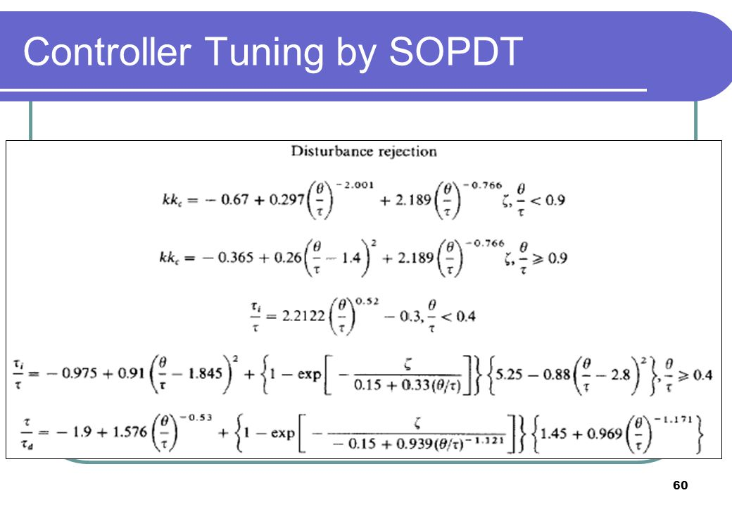 Controller Tuning by SOPDT