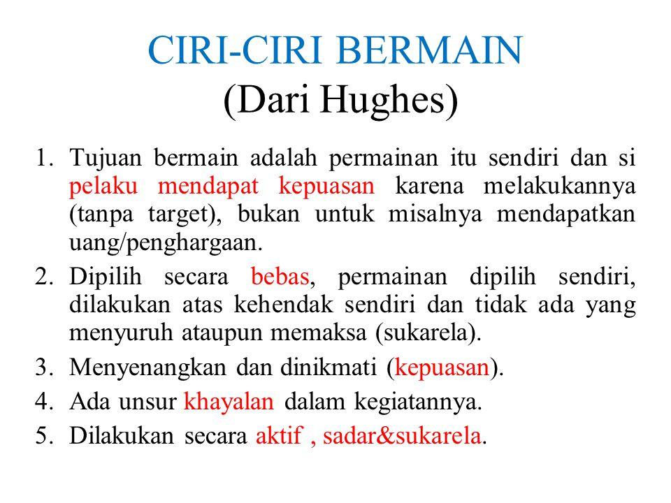 CIRI-CIRI BERMAIN (Dari Hughes)