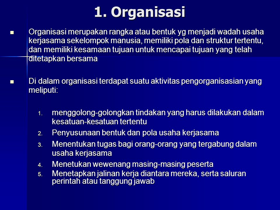 1. Organisasi