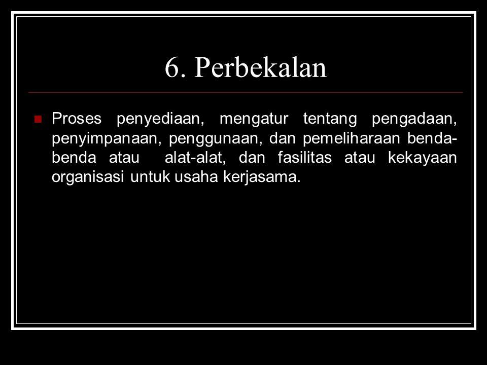 6. Perbekalan