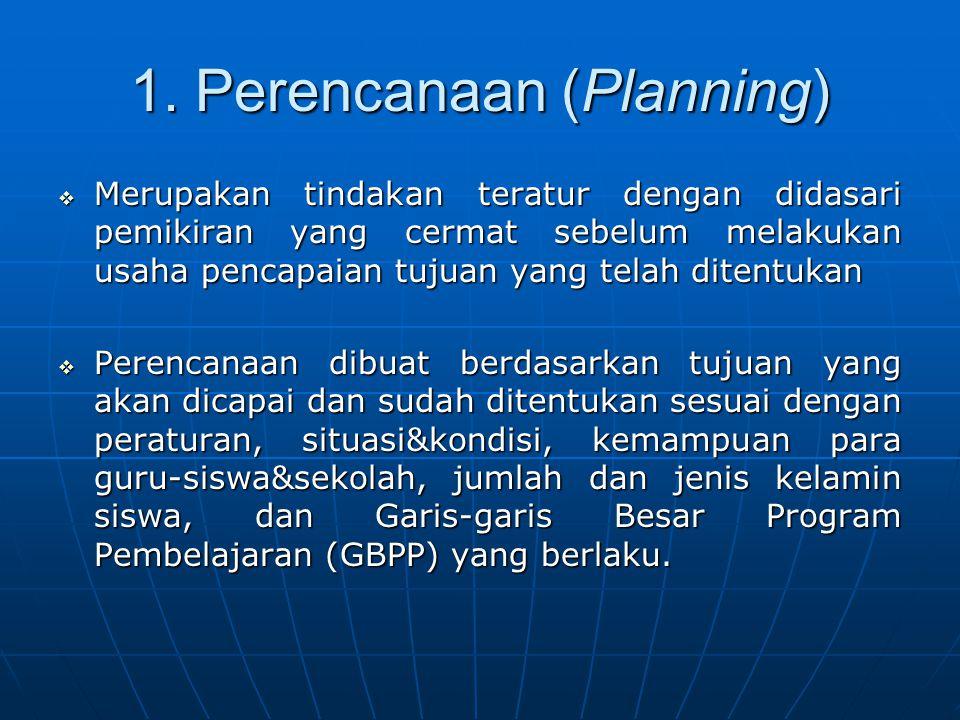 1. Perencanaan (Planning)