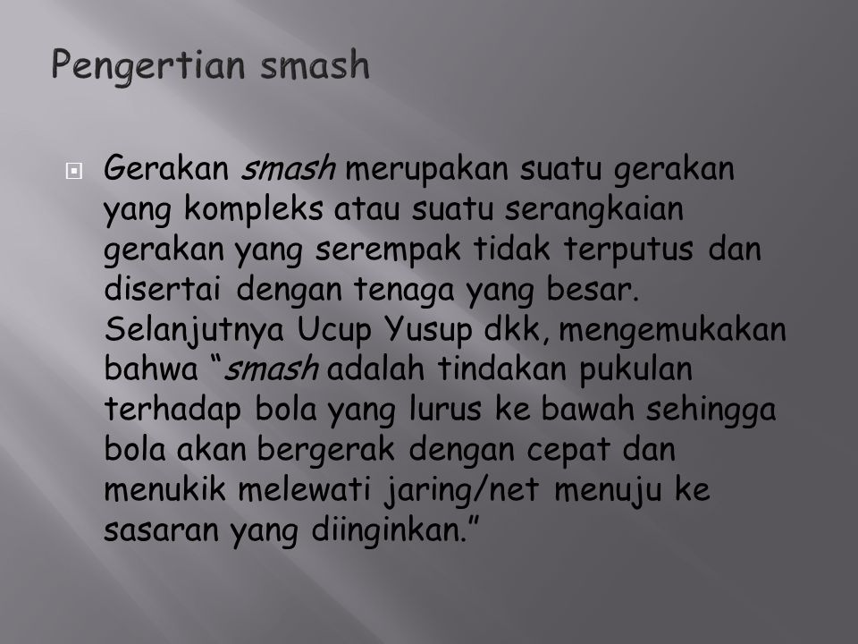 Pengertian smash