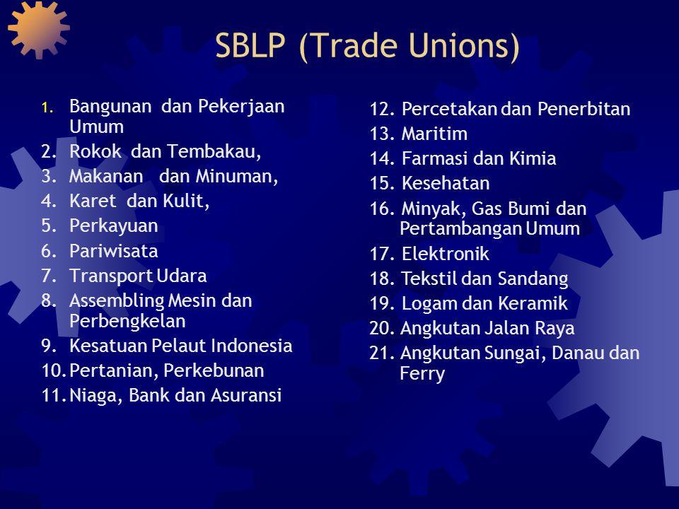 SBLP (Trade Unions) Bangunan dan Pekerjaan Umum